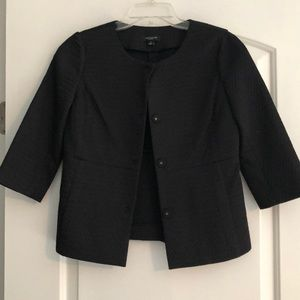 Ann Taylor Black Quilted Work Jacket